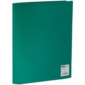 Папка с 40 вкладышами OfficeSpace, 21мм, 400мкм, зеленая