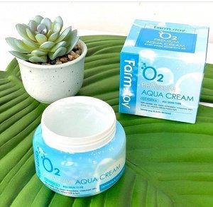 Farm Stay O2 Premium Aqua Cream Увлажняющий крем с пептидами