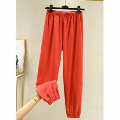Самая уютная закупка! Тёплая одежда. Низкая цена на всё! — Трикотажные штаны свободного кроя, очень удобные! — Широкие брюки