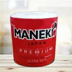 """Бумага туалетная """"Maneki"""" B&W (красная) 3 слоя, 214 л., 30 м, гладкая, с ароматом зел. чая, 1 РУЛОН"""