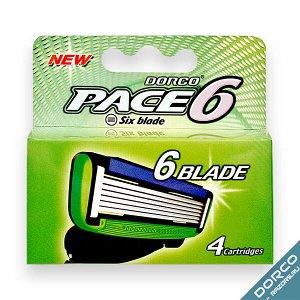 Dorco PACE6 сменные кассеты 6 лезвий (4 шт)