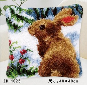 Подушка (наволочка) - Ковровая вышивка / техника