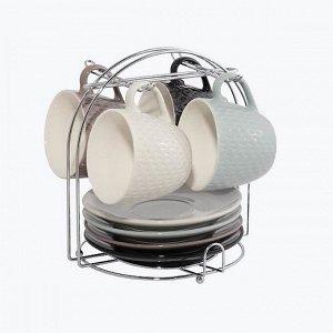 Набор керамический кофейный на подставке LaDina 9 предметов