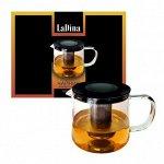 Чайник стеклянный корпус заварочный 1000 мл LaDina