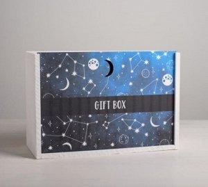 Ящик подарочный деревянный «Космос» 01