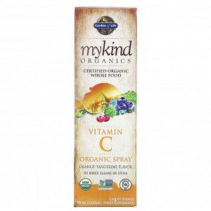 Garden of Life, MyKind Organics, спрей с органическим витамином C, вкус апельсина и мандарина, 58 мл (2 жидкие унции)