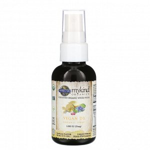 Garden of Life, MyKind Organics, Vegan D3 Organic Spray, Vanilla, 25 mcg (1,000 IU), 2 fl oz (58 ml)