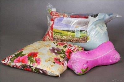 ECOLAN — домашний текстиль, яркие принты! Наматрасники — Подушки лузга гречихи — Подушки