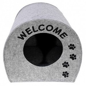 "Домик для животных"" Будка WELCOME"", войлок, 33х33х45см"
