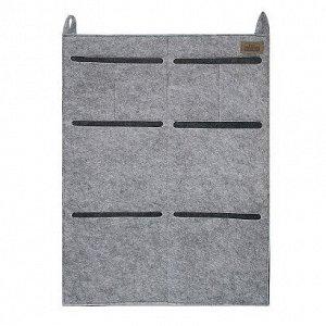 """Органайзер для хранения подвесной """"CLASSIC"""", светло-серый, 45х60см"""