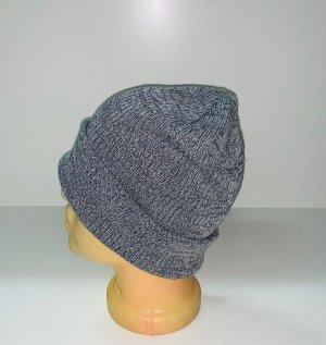 Шапка Крутая шапка серого цвета  №1556