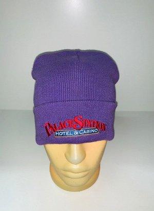 Шапка Сиреневая зачетная шапка  №3957