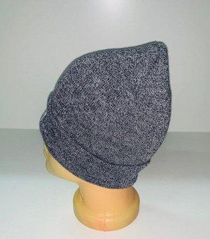 Шапка Топовая шапка серого цвета  №1559