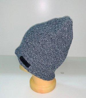 Шапка Серая шапка оригинальной вязки  №1545