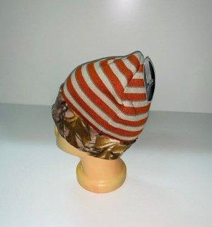 Шапка Оригинальная полосатая шапка Realtree  №4004