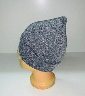Шапка Светло-серая зачетная шапка  №1916