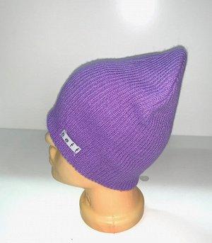 Шапка Топовая шапка фиолетового цвета  №1729