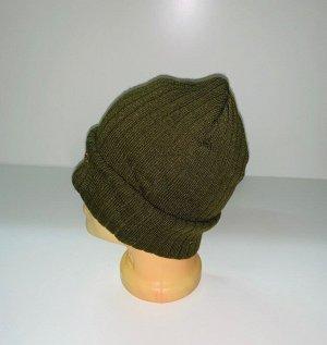 Шапка Строгая шапка цвета хаки  №3988