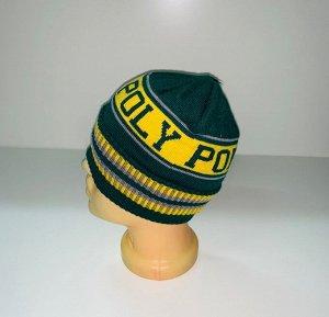 Шапка Желто-зеленая стильная шапка  №3985