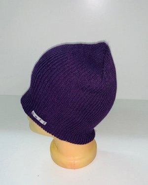 Шапка Стильная фиолетовая шапка  №1724