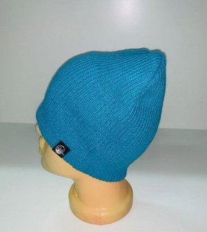 Шапка Стильная голубая шапка  №1833