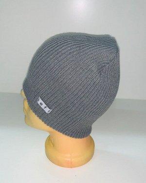Шапка Серая топовая шапка  №1529
