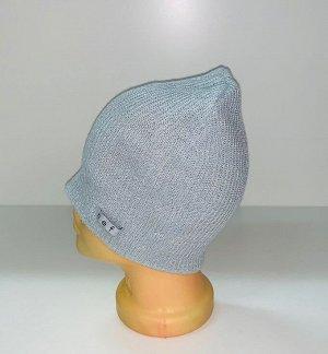 Шапка Светло-серая топовая шапка  №1585