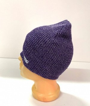 Шапка Фиолетовая вязаная шапка  №1587
