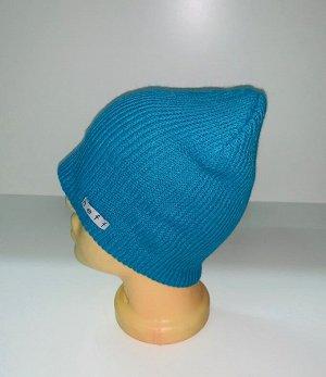 Шапка Крутая голубая шапка  №1688