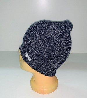 Шапка Топовая шапка цвета серый меланж  №1583