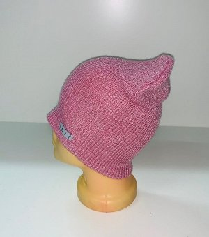 Шапка Розовая стильная шапка  №1580