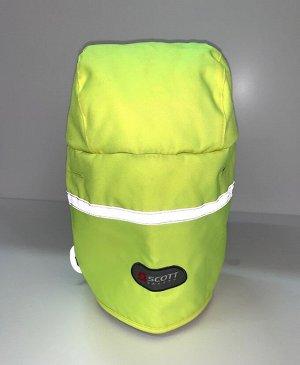 Шапка Салатовая шапка со светоотражающими полосками  №1732