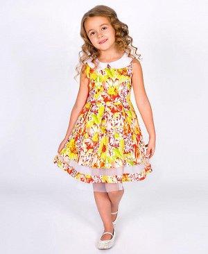 Платье летнее для девочки Цвет: молочный