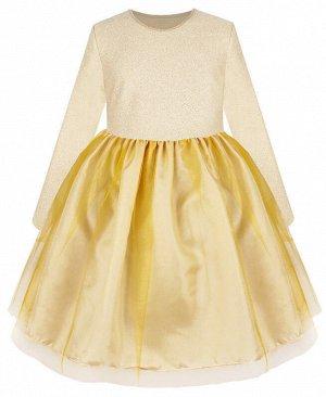 Молочное нарядное платье для девочки Цвет: молочный