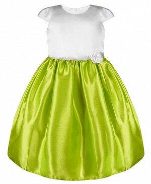 Нарядное салатовое платье для девочки Цвет: салатовый