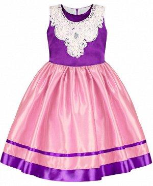 Фиолетовое нарядное платье для девочки Цвет: фиолетовый