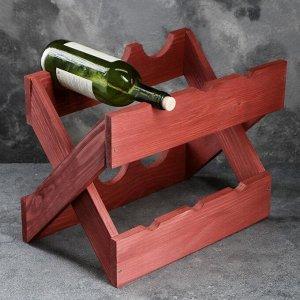"Подставка для вина настольная ""Диагональ"", тёмная, 40 х 24 х 30 см"