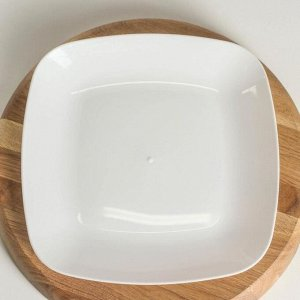 Тарелка плоская «Квадро», 22?22 см, цвет белый
