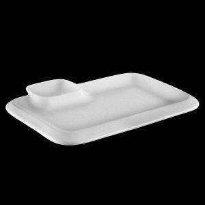 Блюдо прямоугольное с соусником, 20?12 см