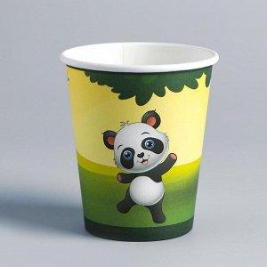 Стакан бумажный «Панды», набор 6 шт.