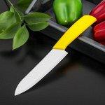 Нож кухонный керамический «Симпл», лезвие 15 см, ручка soft touch, цвет МИКС 585386