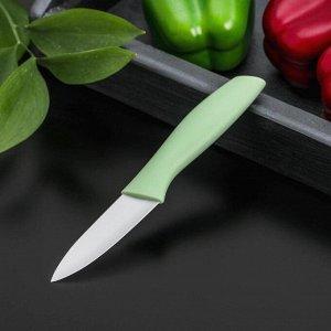 Нож кухонный керамический Доляна «Мастер», лезвие 8 см, цвет МИКС
