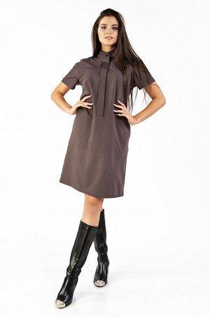 Платье Платье из костюмной ткани в японском стиле, с супатной застежкой и стойкой. Прямой крой платья, втачные карманы в боковом шве и цельнокроеный рукав создают комфорт при носке.