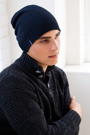 Мужская шапка-колпак «Либерти» (темно-синий)