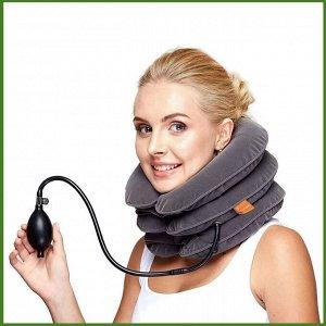 Надувной воротник для шеи (тройная лечебная подушка) при остеохондрозе