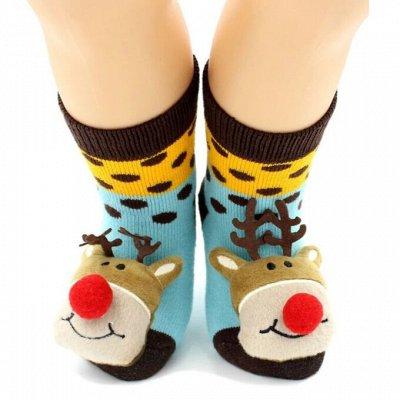 Детям теплые носки, перчатки, лосины ❄  — Носки с игрушкой-колокольчиком — Одежда