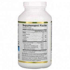 California Gold Nutrition, Омега-3, рыбий жир премиального качества, 240 рыбно-желатиновых капсул