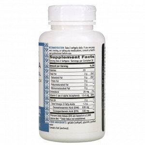 Nature&#x27 - s Way, Mega-DHA Premium Fish Oil, 1,000 mg, 60 Softgels