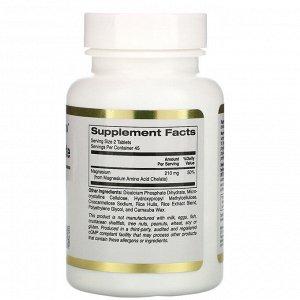California Gold Nutrition, хелат магния, 210 мг, 90 таблеток