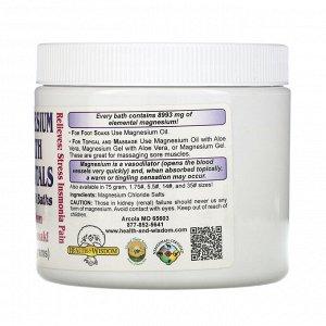 Health and Wisdom, Кристаллы магния для ванны, 3/4 фунта (341 г)